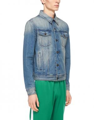 Джинсовая куртка Ami. Цвет: синий