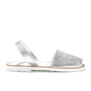 Сандалии с открытым носком AVARCA FIESTA BLANCO MINORQUINES. Цвет: серебристый