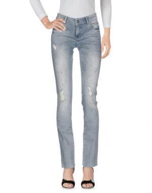 Джинсовые брюки SUPERTRASH. Цвет: серый