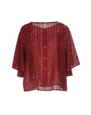 Pубашка SOUVENIR. Цвет: красно-коричневый