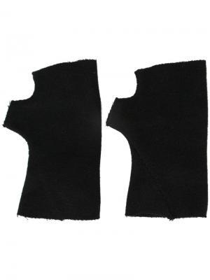 Перчатки без пальцев Ma+. Цвет: чёрный