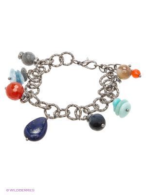 Браслет Polina Selezneva. Цвет: синий, голубой, оранжевый, серый