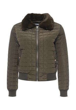 Куртка утепленная Paccio. Цвет: хаки