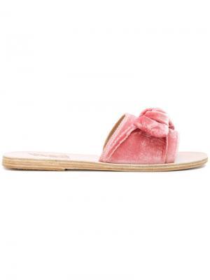 Сандалии Taygete Bow Ancient Greek Sandals. Цвет: розовый и фиолетовый