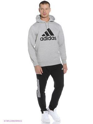 Худи Adidas. Цвет: серый, черный