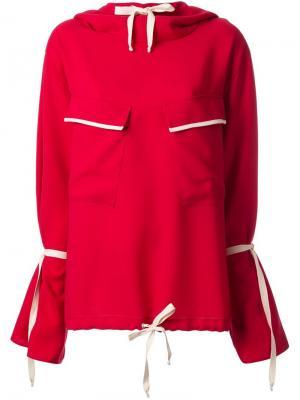 Толстовка с капюшоном и карманами N Duo. Цвет: красный