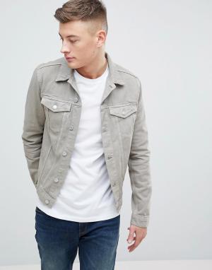 New Look Джинсовая куртка песочного цвета. Цвет: светло-бежевый