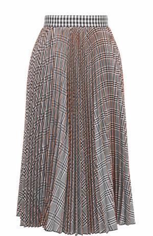 Плиссированная юбка-миди MSGM. Цвет: разноцветный