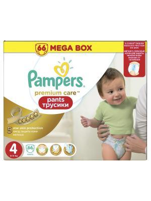 Трусики Premium Care Pants 9-14кг, размер 4, 66 шт. Pampers. Цвет: молочный, золотистый