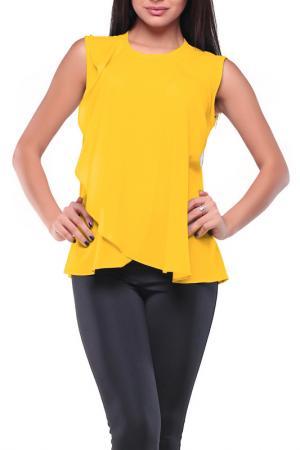 Блуза REBECCA TATTI. Цвет: желтый