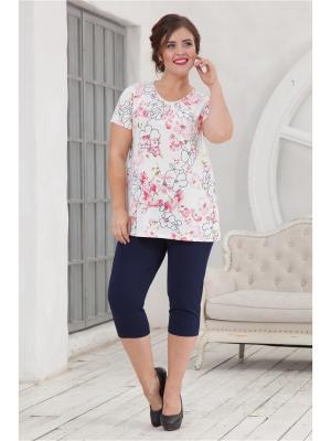 Комплект одежды CLEO. Цвет: молочный, синий