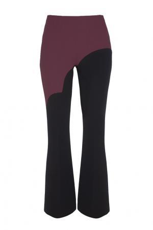 Шерстяные брюки Chapurin. Цвет: черный, бордовый