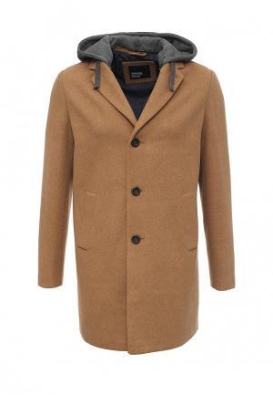 Пальто Springfield. Цвет: коричневый
