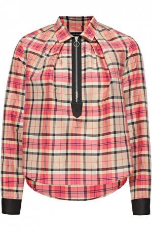 Укороченная блуза в клетку Isabel Marant. Цвет: разноцветный