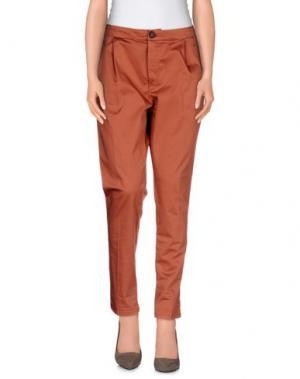 Повседневные брюки E_GO' SONIA DE NISCO. Цвет: какао