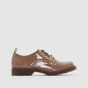 Ботинки-дерби лакированные CLAIRE COOLWAY. Цвет: каштановый лак