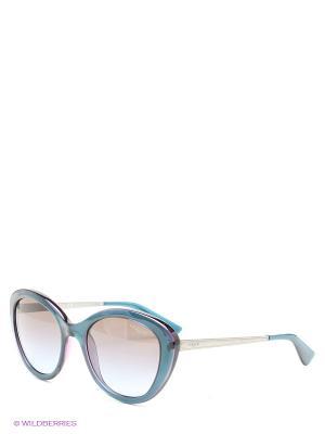 Очки солнцезащитные Vogue. Цвет: синий, фиолетовый