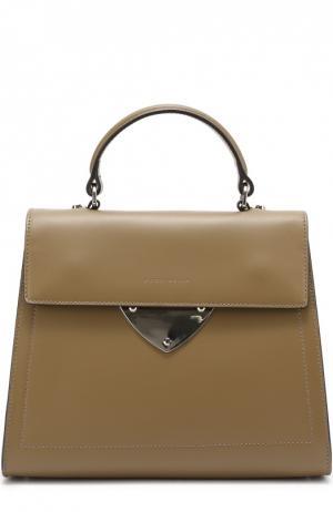 Кожаная сумка B14 Coccinelle. Цвет: хаки