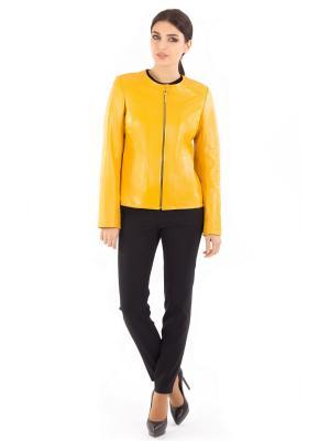 Кожаная куртка ALIANCE FUR. Цвет: желтый