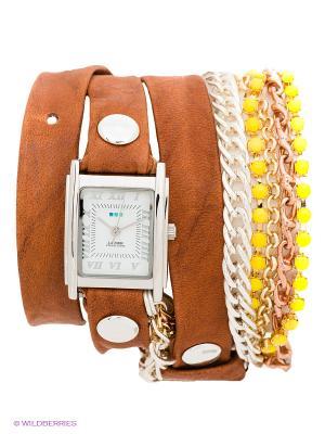 Часы La Mer Collections. Цвет: коричневый, серебристый