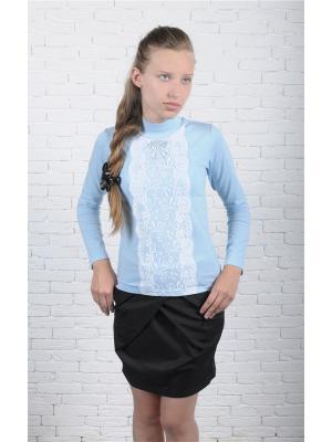 Блузка ZEBRA KIDS. Цвет: голубой