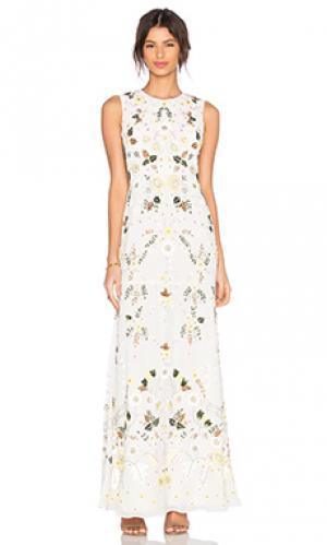 Вечернее платье sunflower Needle & Thread. Цвет: белый