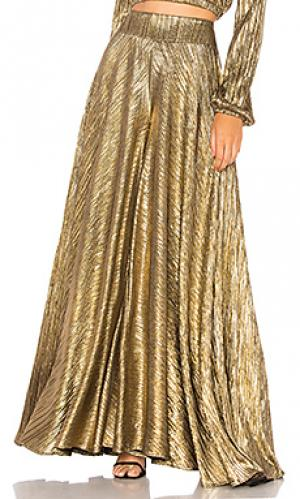 Широкие брюки dance Show Me Your Mumu. Цвет: металлический золотой