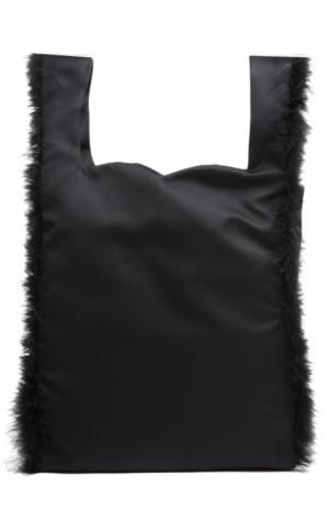 Сумка с отделкой из перьев Simone Rocha. Цвет: черный