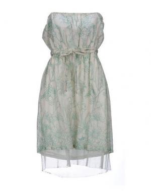 Короткое платье GOLD CASE SOGNO. Цвет: слоновая кость
