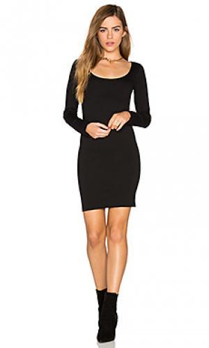 Мини-платье с длинным рукавом MONROW. Цвет: черный