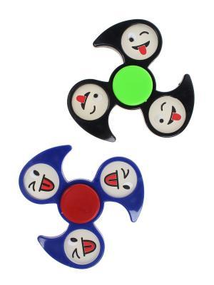 Спиннер, 2 шт. Happy Charms Family. Цвет: черный, прозрачный, синий