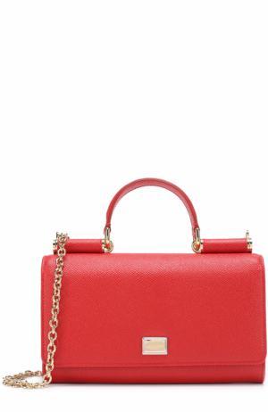 Сумка Sicily Von на цепочке Dolce & Gabbana. Цвет: красный
