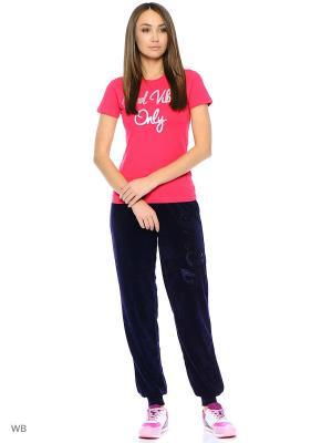 Спортивные брюки Modis. Цвет: темно-фиолетовый, темно-коричневый
