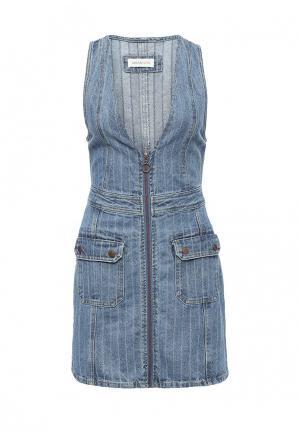 Платье джинсовое Urban Bliss. Цвет: голубой
