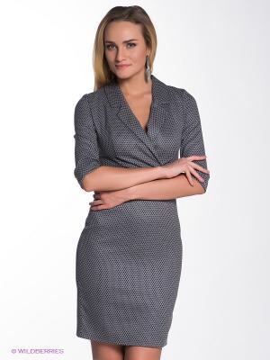 Платье Olga Skazkina. Цвет: темно-синий, серый