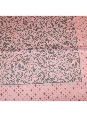 Платок Dolci Capricci. Цвет: серый, бледно-розовый