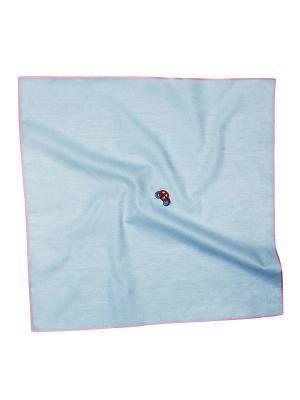 Платок 100% х/б 50*50 Passigatti. Цвет: голубой