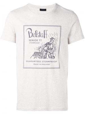 Футболка Stubbs Belstaff. Цвет: телесный