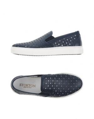 Низкие кеды и кроссовки STOKTON. Цвет: темно-синий