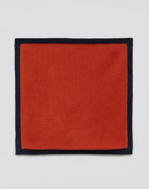 MOSS BROS Трикотажный платок для пиджака London. Цвет: оранжевый