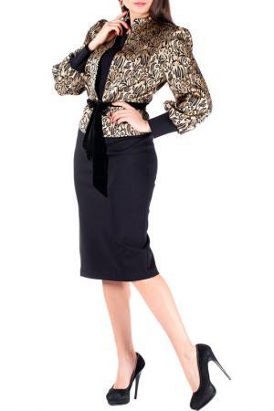 Жакет с платьем Mannon. Цвет: золотой