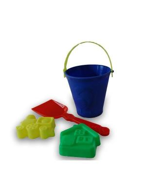 Песочный набор №3 ОГОНЕК.. Цвет: синий,зеленый,желтый