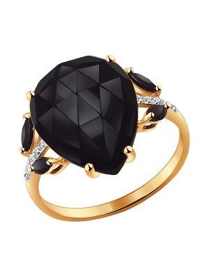 Кольцо SOKOLOV. Цвет: черный, золотистый