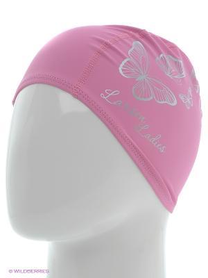 Шапочка плавательная 3059 Butterfly Larsen. Цвет: розовый