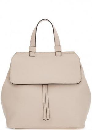 Сумка-рюкзак из мягкой кожи бежевого цвета Abro. Цвет: бежевый