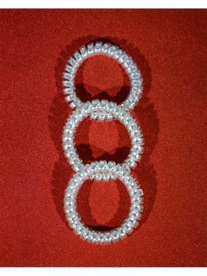 Резинка пружинка Bizon. Цвет: серебристый