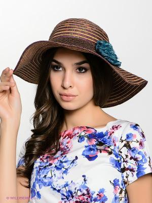 Шляпа FOMAS. Цвет: коричневый, сиреневый