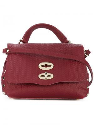 Текстурированная сумка через плечо Zanellato. Цвет: красный