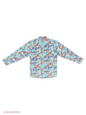 Куртка Woven Jacket ASICS. Цвет: голубой, красный, синий