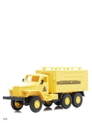 Машина спецтехника грузовик закрытый кузов Drift. Цвет: желтый